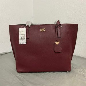 MICHAEL KORS Ana Medium East/West Tote- Oxblood